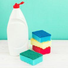 Photos restes de savons liquide vaisselle